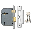 Union 2277 3 lever sashlock (76mm Brass)