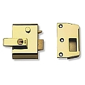 Yale No.2 40mm Auto-Deadlocking Nightlatch Brasslux With Brass Cylinder