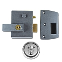 Yale No.2 40mm Auto-Deadlocking Nightlatch With Satin Chrome Cylinder