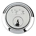 Yale 1109 Rim Cylinder Satin Chrome