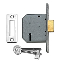 Union 2177 3 Lever Deadlock (64mm Chrome)
