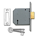 Union 2177 3 Lever Deadlock (76mm Chrome)