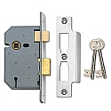 Union 2277 3 Lever Sashlock (64mm Chrome)