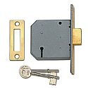 Union 2177 3 Lever Deadlock (76mm Brass)