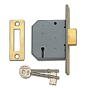 Union 2177 3 Lever Deadlock (64mm Brass)