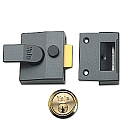 Yale 85 Narrow Style Nightlatch With Brass Cylinder