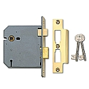 Union 2277 3 Lever Sashlock (100mm Brass)