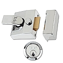 Yale 85 Narrow Style Nightlatch Polished Chrome