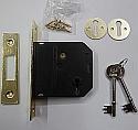 Union Essential Range 3 Lever Deadlock (76mm Brass)