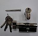 50/50 Key & Turn euro Profile Cylinder Nickel Plated