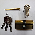 50/50 Double Euro Profile Cylinder Brass