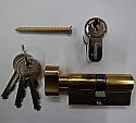 50/50 Key & Turn euro Profile Cylinder Brass