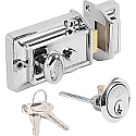 Yale 77 Non-Deadlock Traditional Nightlatch Polished Chrome