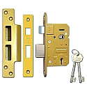 Asec Products B/S Sashlock (64mm Brass)