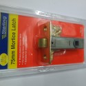 Mortice Tubular Latch (76mm Brass)