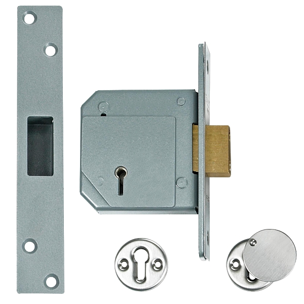 Chubb 3G114 Deadlock (80mm Satin Chrome)
