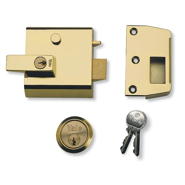 Yale No. 1 60mm Auto-Deadlocking Nightlatch Brasslux