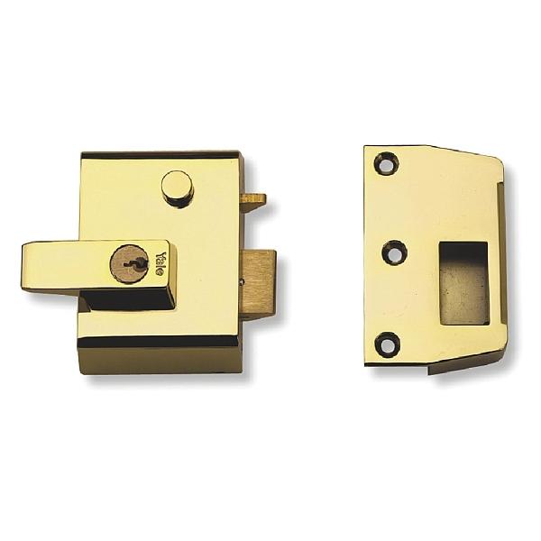 Yale No.2 40mm Auto-Deadlocking Nightlatch Brasslux With Brass Cylinder